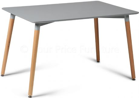 Eiffel Grey Designer Dining Table Rectangular Small Sale Now On Your Price Furniture
